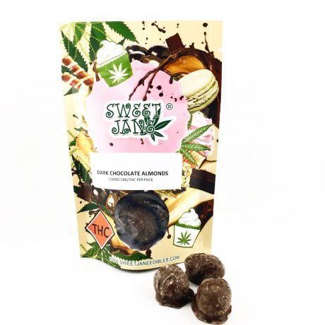 Dark Chocolate Almonds 150mg THC CBD